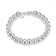 Women Bracelets Girl Fashion 925 Silver Bracelet Lady Bracelet Jewelry Lovers Gift silver 20cm