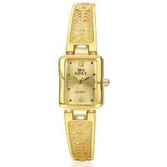 Women Watch Ladies Bracelet Diamond Watch Lover Gift gold 25cm