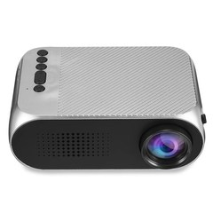 Mini LED LCD Portable Projector HDMI USB Home Media Player Office Projector YG320 Silver 13CM