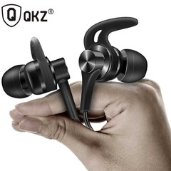 Sport Metal Earphones Half In-ear Earphone With Microphone Headset Earbuds For Android/iPhone EQ1 Black