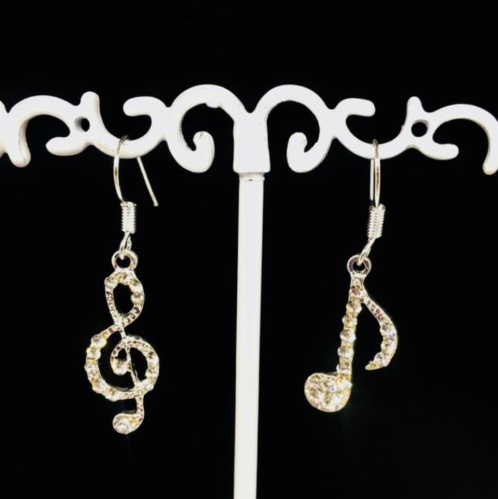 2019 Women Fashion Earrings Asymmetric Female Earrings Korean Geometric Music Earrings as picture one size