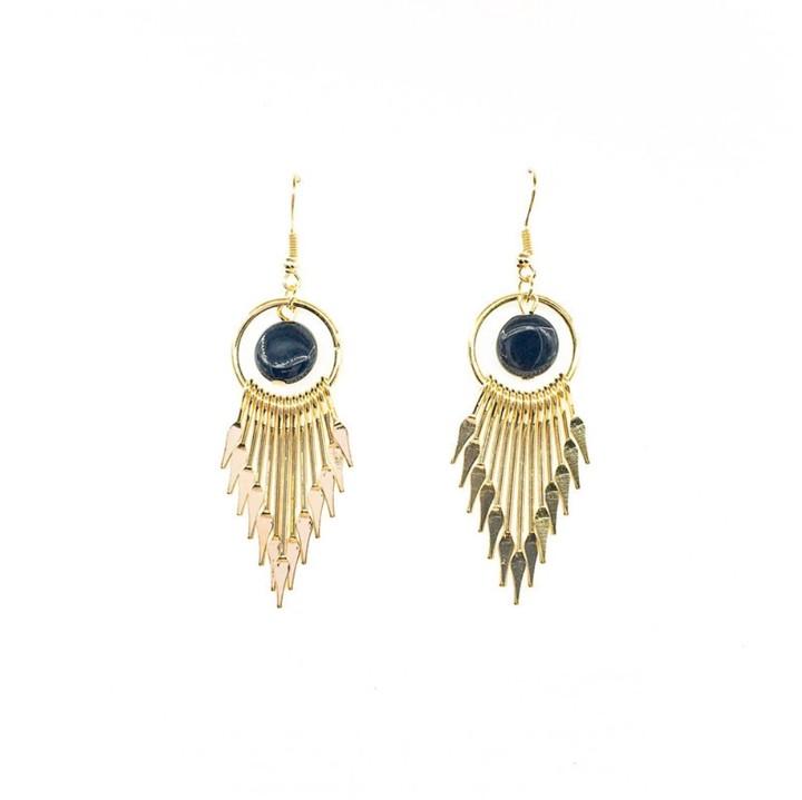 Women Earrings Lady Female Wild Tassel Earrings Jewelry Lover Gift gold one size
