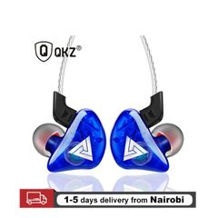 Super Bass Sport Earphones Headsets Running Earbuds Stereo HD Mic With Retail Box blue