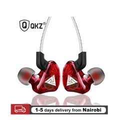 Super Bass Sport Earphones Headsets Running Earbuds Stereo HD Mic With Retail Box red