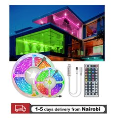 Home Decor Led Light Strip LampTape IP65 Waterproof Flexible Ribbon With Remote Controller RGB 2835 5M Waterproof 12V