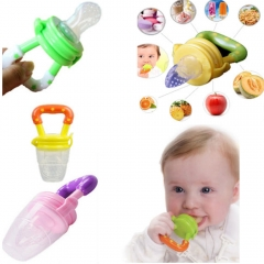 Feeder Non-Toxic Silicone Feeding Pacifier Bottles Fruit Juice Pacifier Baby Nipple blue m