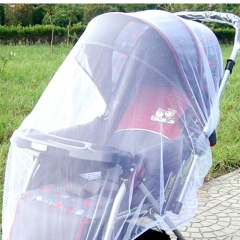 Baby Stroller White Mosquito Mesh Net Pushchair Insect Safe Protection Nets Cover white one size