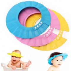 PVC Adjustable Soft Baby Shampoo Shower Cap Baby Care Bath Protection For Kid cap yellow adjustable