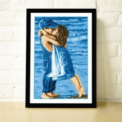 Childhood Embroidery Accurate DIY Needlework Crochet Blue Lovely Chilldhood Embroidery Gift colorful 38cmx52cm