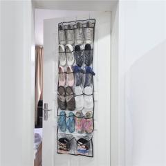 22 Pockets Multi-purpose Shoes Organizer 6 Layers Storage Bag Transparent Hanging Closet gray