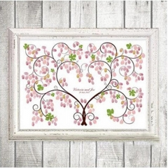 Wedding Signature Book For Party Love Tree Wedding Finger Canvas one color 30cmx40cm