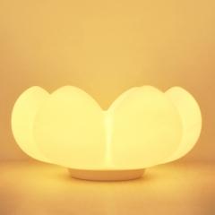 Silicone soft storage flower night light, USB fleshy flower lamp housing with Sensitive Tap Control White-Yellow light 16cm 0.5W