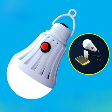 DC5-6V USB LED Powered Bulb Emergency Light for Home, Emergency, Camping-White White-9W Normal Normal