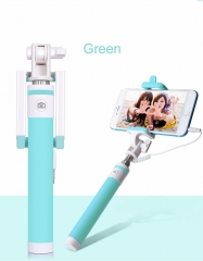 Macaron Wired Selfie Stick for Smart Phones green one size