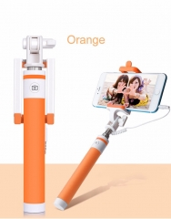 Macaron Wired Selfie Stick for Smart Phones orange one size