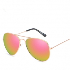 Classic Fashion Metal Reflective Sunglasses Unisex red one size