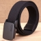 Unisex Casual Canvas Waist Belt High Quality Thick Canvas Waistband black one size