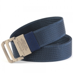 Men Tactical Nylon Belt, High Quality Military Casual Belts for Mens and Women dark blue one size