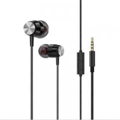 V-tek Original In-Ear Erphone with Microphone,for All 3.5mm Audio Jack,Model V03 black
