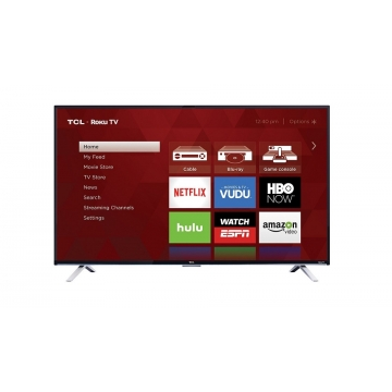 TCL Ultra HD LED Display Smart Television - Black, 43 Inch TV