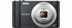Sony W810 20.1MP Compact Digital Camera with 6x Optical Zoom 2.7 -inch LCD black 3.8 in x 2.2 in