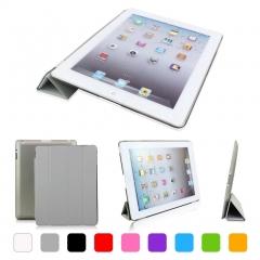 iPad 2 3 4 Ultra Thin Magnetic Smart Cover Wake Sleep Translucent Back Case Purple 230