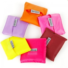 Portable Collapsible Nylon Shopping Bag Random Color Substantial and Anti-water Stuff Random color as picture