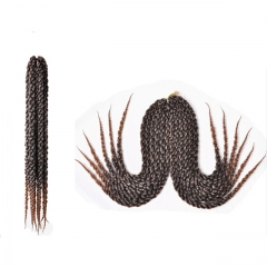 3D Cubic Twist braid For Black Woman  Low temperature flame retardant wire light brown as picture