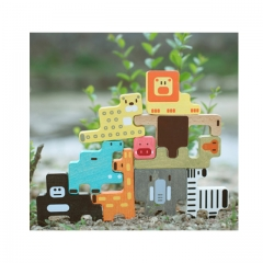 Iwood Carton Animals Wooden Story Blocks for Children forest series forest normal