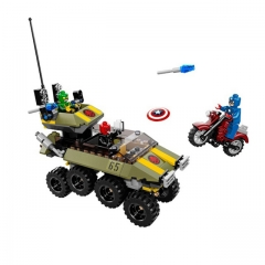 lepin Captain America fightting the red skull  building blocks multi-color normal