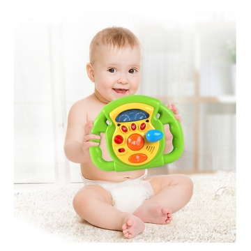 Nukied Interesting music steering wheel with Electronic Button above 1 year old multi-color one size