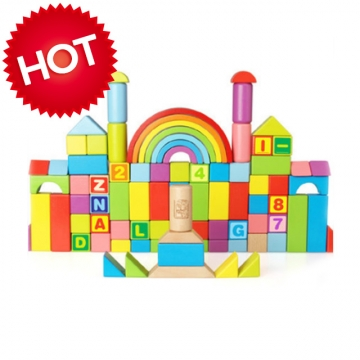 danniqite  rainbow building blocks 87 pieces  Improve baby intelligence colorful CDN-1208