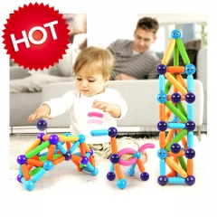 Nukied Upgraded Pope magnetic rod building blocks 25PCS above 18 months multi-color normal