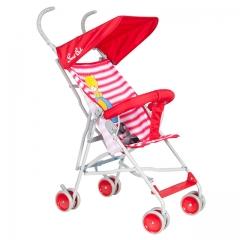 Baby stroller baby car umbrella light cart buggiest folding trolley summer cart red one size