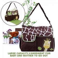 High Capacity Maternity Mother Bag Giraffe Mummy Changing Nappy Bag pink normal