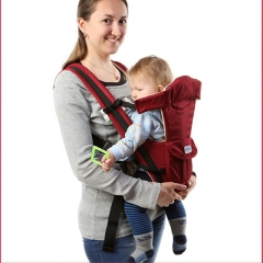 ebiou Baby Carrier Summer multi-function breathable baby carrier waist stool for 3~36 months red one size