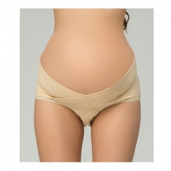 Loveincolors Maternity Women Cotton Support Belly Plus Underwear apricot xl