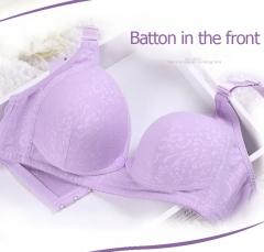 Pure cotton non-trace button before pregnant women breastfeeding underwear (no underwear) blue 85b