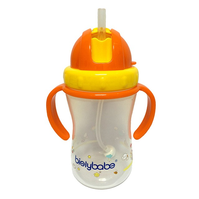 bielybabe Bilateral Handle  straw cup  above 6 months yellow 320ml