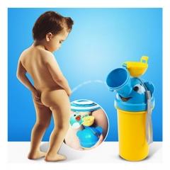 Bielybabe Cute Pot  Baby Boy Portable Urinal Travel Car Toilet Kids Vehicular Potty children's pot yellow one size