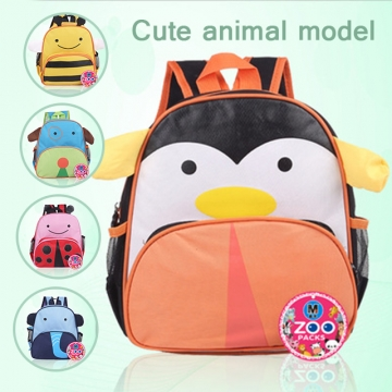 Children animal school bag penguin