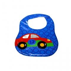 New Cartoon Pattern Silicone Waterproof Baby Bibs Convenience Health Bib blue one size