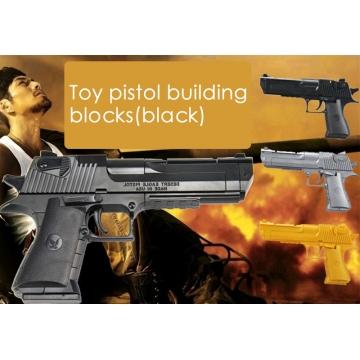 Toy pistol building blocks BLACK one size
