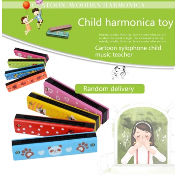 Child harmonica toy multi-color one size