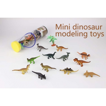 Mini dinosaur modeling toys multi-color one size