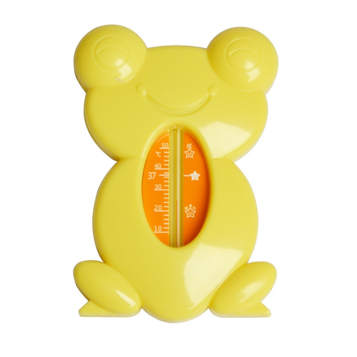 Frog Cartoon Water Thermometer BABY Bath Water Thermometer yellow one size