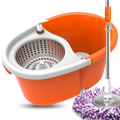 Rotate the mop bucket double drive hand pressure automatic dry mop bucket orange 50*35*25CM
