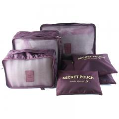 Travel Storage Bag Set For Clothes Tidy Organizer Pouch Suitcase Claret