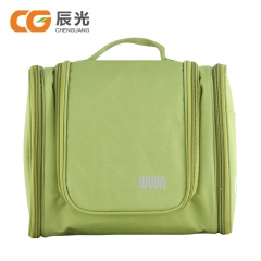 Side Zipper Toiletry Storage Bags Travel Bags Cosmetic Case Green
