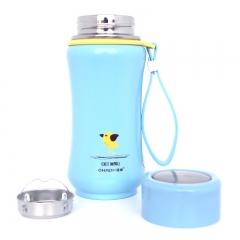 200ml/320ml Mini Cute Cartoon Thermos Cup Portable Travel Vacuum Cup Bottle Blue 320ml
